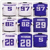 adrian peterson elite jersey - 2016 Vikings Elite Rugby Jerseys Teddy Bridgewater Stefon Diggs Adrian Peterson Kyle Rudolph Rhodes purple white Stitched