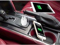 Adaptador de corriente para vehículos portátil plegable Doble salida USB móvil de fuente de alimentación de divisas