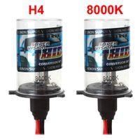 Wholesale 2PCS Super Brightness H4 K Car Conversion HID Xenon Lights Replacement Light Lamp Car Headlight Lighting K CEC_405