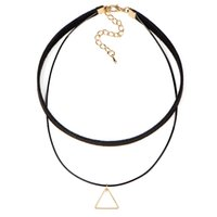 Wholesale New top sales chorkers necklace with triangular geometric pattern Korea creative
