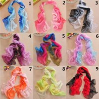 Poncho Fashion Gradient Cheap Colorful 2016 Women's Scarves Chiffon Infinity Stylish Scarf Girl's Pashmina Shawl Wrap Lady's Long Neckerchief White Purple Red Pink