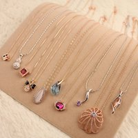 best preserves - Summer best selling small delicate collarbone chain Color preserving plating fashion pendants Han edition necklace many stype to choose