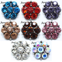 Wholesale High quality mm Snaps Jewelry Rhinestone metal snaps buttons For Ginger Button Snap Jewelry bracelets Jaynalee snaps jewelry GS1208081
