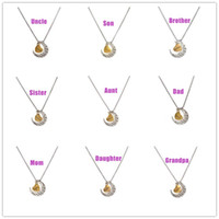 aunt gift - 2016 Fashion I Love You to the Moon and Back Necklace Moon Heart Pendant Mum Dad Sis Bro Uncle Aunt Grandapa Grandma Jewel