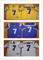 Wholesale LSU Tigers Jersey Footbball College Leonard Fournette Purple Gold White HONEY BADGER Tyrann Mathieu Patrick Peterson