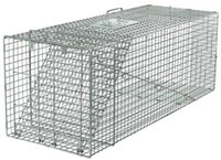 Wholesale Live Animal Trap Racoon Skunk Rabbit Dog Cat Steel Cage Collapsible Humane Large
