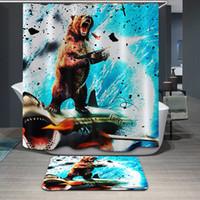 bear shower curtains - Violent Bear Shower Curtains Skulls Bathroom Curtains Train Giraffe Bath Curtain Pure Polyester Waterproof
