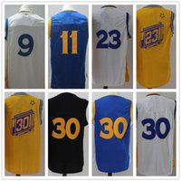 Wholesale 2016 Finals Patch Available Basketball Jersey White Blue Yellow Stitched