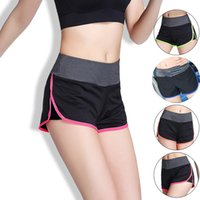 Wholesale Women Quick Dry Sports Running Shorts With Lining Colors Breathable Fitness Gym Shorts Pants Outdoor Training Sports Trousers lt no tra