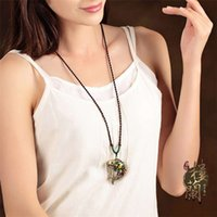ancient chinese necklaces - Loulan inn fish pendant hang national wind sweater chain contracted joker long Chinese wind restoring ancient ways necklace