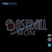 baseball mom t shirts - Most Popular Products Rhinestone Baseball Mom Transfer For Men s t Shirt pieces