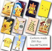 Wholesale Fashion Cartoon Poke Pikachu Stickers for cards colorful stickers for decoration Movie Poster Picture Souvenir Card Sticker DIY Scrapbooking