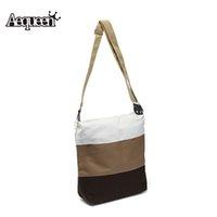 beach interior design - Trendy Casual Bags Canvas Shoulder Bag Adjustable Strap Contrast Patchwork Colors Design Handbags Cell Phone Beach Bag Gift