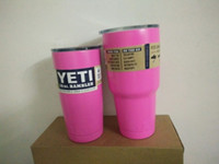 Wholesale UPS OR SF EXPRESS oz oz Yeti Tumbler Rambler Hot Bilayer Stainless Steel Yeti Cups Heat Proof Yeti Mugs