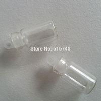 Wholesale 100PCS clear ml mini glass bottle small glass jar vials plastic cap small glass bottles clear mini bottle small empty bottles