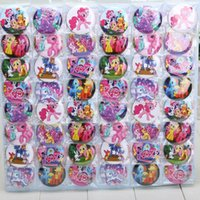 Wholesale 48pcs My Little Pony Badges cm cartoon fashion Button Pin badge kids Clothing Accessories kids toys