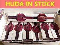 Wholesale Christmas In Stock sale Huda Beauty Liquid Matte Lipgloss colors Waterproof Long lasting Lipstick lipgloss lipstick fast shipping