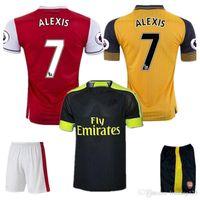 Wholesale Top Quality Arsenal jerseys kit Away home RD goalkeeper Jersey WILSHERE OZIL WALCOTT RAMSEY ALEXIS shirt