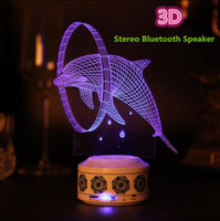 acrylic speaker stands - 3D Stereo Bluetooth Speaker Lamp Multicolored Sound Nightlight Gift Acrylic Iamp Wireless Bluetooth Speakers D for iphone s Samsung Smar