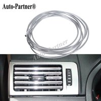 aircon air conditioner - 3 meters car Air conditioner outlet strip car aircon sticker for chevrolet cruze volkswagen ford focus car styling
