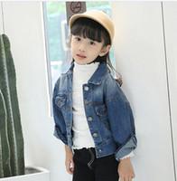 Wholesale 2016 new autumn children Korean girls pure child cowboy coat