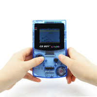 Wholesale 2 quot kong feng GB BOY Classic color colour Handheld Game console with backlut boy game player support GBC Games