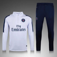 Wholesale New PSG training clothes sweater coat long sleeved Set autumn and winter sports Soccer Jerseys Paris Slim trousers Soccer Uniforms