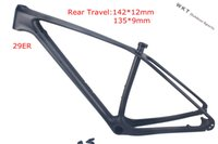 Wholesale MTB carbon frame MATTE GLOSSY black color er carbon frame mtb bike frame x12 thru axle MTB carbon frame er x9 compatible