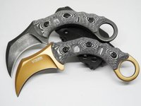 Wholesale High quality claw knife D2steel talon karambit knife outdoor gear