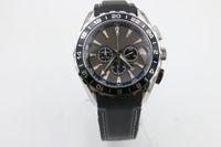 aqua dresses brand - brand new watch men quartz chronograph waches Co Axial planet ocean aqua terra leather watches men dress wristwatches