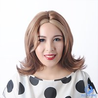 Wholesale New Beautiful Long brown Cheap Synthetic Wigs For Women fashion wig