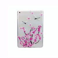 apple computer skins - Soft Cover Tablet Computer Mini Coloured Drawing Tablet PC Cases Clear TPU Solid Print Floral Tablet PC Cases
