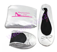 ballet totes - WeddingTop123 hot Foldable Flats WITH EXPANDABLE TOTE BAG for Carrying High Heels Fold up ballet shoes great for Weddings Bridal Parties