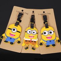Wholesale Despicable Me Minions Luggage Tag Travel Tag PVC Toys Portable Suitcase Bag Tag Styles ANPD2185