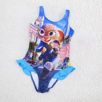 Wholesale Zootopia Baby one pieces colors New girls summer cartoon swinwear lovely bathing suit Children Beachwear