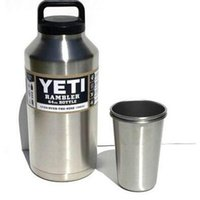 Wholesale 2016 Yeti oz Rambler Stainless Steel Cups Large Capacit Cooler YETI Rambler Tumbler Cup Vehicle Beer Mug Double Wall Bilayer Vacuum