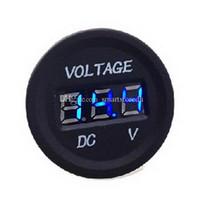 Wholesale 12V V Car Motorcycle LED DC Digital Display Voltmeter Waterproof Meter M00100 FADH