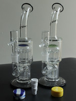 Wholesale Glass bong quot TORO Arm glass bubbler percolator bongs water pipes oil rigs with Dabber glass bucket