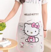 Wholesale lovely cartoon apron waterproof oil proof adorable kitty doraemon mouse print fashionable kitchen supply