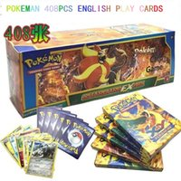 Wholesale Set English pokeman Cards XY Trading Card Playing Games Collections Toys include EX cord For Kids gift