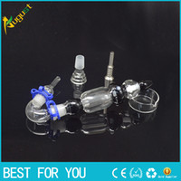 glass dish - Version Nectar Collector Kit with Curved Glass Bowl Nail Titanium Nail Honey Straw Unit Glass Dish Glass Nail Glass Bongs mm