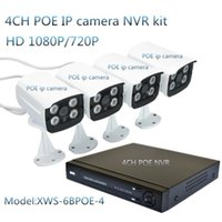 Wholesale 4CH P POE NVR Kit with Outdoor Bullet Waterproof P Home Security IP Camera Surveillance Kit