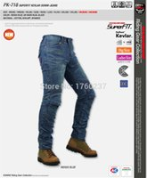 Wholesale Men Women KOMINE PK Kevlar Denim Jeans PK Motorcycle Motocross Moto Pants Jeans With Protector Pad S XL