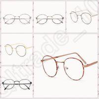 Wholesale 50PCS LJJM123 Vintage Clear Lens Eyeglasses Flower Frame Unisex Retro Round Glasses Frame Fashion Metal Spectacle Eyewear Frame