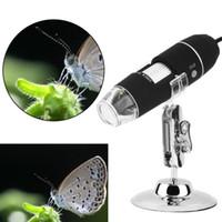 Al por mayor-Nuevos megapíxeles 1000X envío digital de la cámara del endoscopio del microscopio Microscopio Lupa Z P4PM libre 8 LED USB