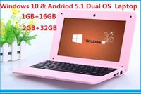 Wholesale NEW mini laptop inch Intel Baytrail CR Z3735F Quad core Windows Andriod Dual OS GB GB NetBook Tablet PC DHL free