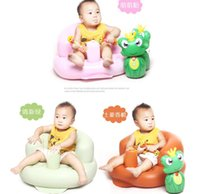 Wholesale Baby Sofa Inflatable Kids Learn stool Training seat Bath Dining Chair PVC Seat Bath Chair baby Bath seat Dining Chair PVC Seat LJJK444