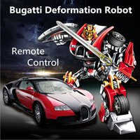 autobots car - Bugatti Detortion Robot A key deformation dynamic robots Fashion autobots Remote Controlled robot fighting god Gesture sensing lamborg