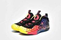 foamposite - 2016 Foamposite Pro PRM Asteroid Fire Black men and women basketball shoes Foam grade school leather sport shoes