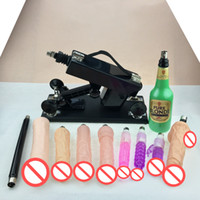 Wholesale Sex Machines Free Shipping - Free Shipping by DHL Luxury Automatic Sex Machine Gun Set for Men and Women,Fucking Machine with Male Masturbation Cup and Big Dildo Toys